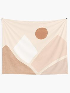 """""""Neutral boho mountain sun"""" Tapestry by Miss-Belle Dorm Tapestry, Tapestry Bedroom, Boho Dorm Room, Room Color Schemes, Room Colors, College Dorm Decorations, Tapestry Design, Thing 1, Yurts"""