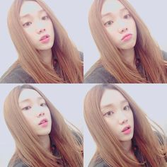 "sungkyunglee: "" [Instagram] January 4th, 2015 "" @heybiblee: - 요즘 생머리. 귀찮아서 아니임. 아닐….껄.. "" Wearing straight hair lately. It's not annoying. It….isn't.. """
