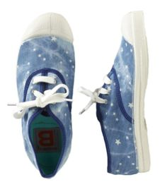 Bleached Star Tennis Shoes For Kids