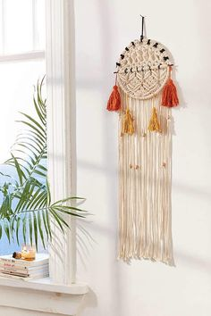 Urban Outfitters Tassel Dream Catcher - Cream One Size Macrame Art, Teen Girl Bedrooms, Decoration, Boho Decor, Design Trends, Wall Decals, Tassels, House Design, Urban Outfitters