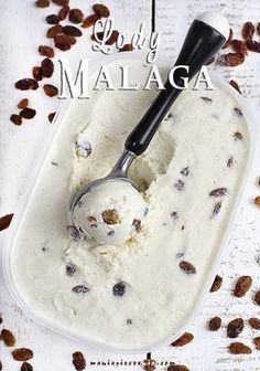 Lody rumowe z rodzynkami (Malaga) - bez jajek i maszyny / No Churn Rum & Raisin Ice Cream (Malaga)
