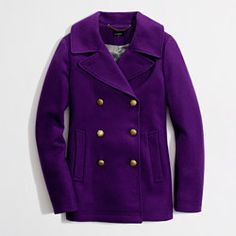 Factory classic peacoat $138 - LOVE this pea coat and it's even better in purple!