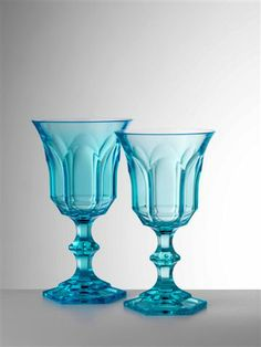 Shop for Mario Luca Giusti Victoria & Albert Colored Water and Wine Goblets at Kneen & Co, the destination for luxury tabletop, flatware and decor. Turquoise Kitchen, House Of Turquoise, Turquoise Water, Acrylic Glassware, Daisy, Azul Tiffany, Water Into Wine, Water Glass, Wine Goblets