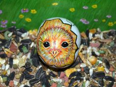 Chicken Rock Art, Hand Painted Stone, Chick in Shell, 3D Art, Chicken Egg,Farm Animal,Garden Rock, Baby Chick, Bird Art, Easter Gift by AnimalArtDecor on Etsy