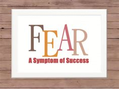 Typography Office Art Print - Fear and Success. $8.00, via Etsy.