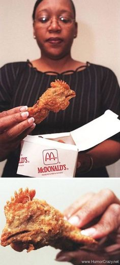 chicken head in mcdonalds happy meal - most creepiest and disgusting things found in food