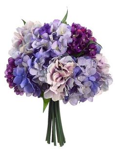 Hydrangea Bouquet in Purple and Lavender | Wedding Flowers...maybe add some white flowers