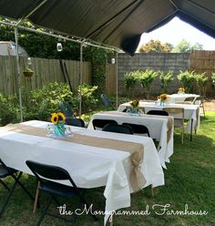 the Monogrammed Farmhouse: Rustic Country themed Graduation party Outdoor Graduation Parties, Graduation Party Planning, College Graduation Parties, Graduation Decorations, Graduation Ideas, Grad Parties, Graduation Party Centerpieces, Graduation Party Foods, Graduation Celebration