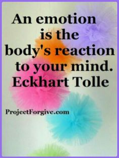 Our bodies react to our thoughts
