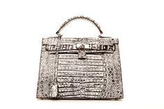 Queen Anne Charcoal Python Handbag | Kathryn Allen