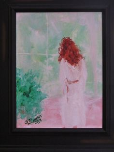 "From the ""Girls from Behind"" Collection""Morning Original (Canvas size)""Morning Light"" was exhibited at the Six Summit Gallery in Ivoryton, CT during the Salon Show. A beautiful redhead gazing out a sunlit window in her c. Impressionist Paintings, Impressionism, Beautiful Redhead, Morning Light, Figure Painting, Canvas Size, Window, Contemporary, Gallery"