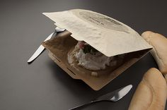 Disposable food bowl by Michal Marko, via Behance