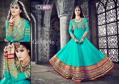 Awesome Sea Green Pure Georgette Salwar Kameez257