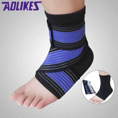 AOLIKES Ankle Support Compression Bandage Outdoor Sport Brace sprain Protect Sock  Features: 1. Durable and comfortable easy wearing. 2. Adjustable design exquisite workmanship. 3. Approving adequate supportlightweight and skin friendly. 4. Fully adapt to the foot type. Protect your ankle fit for any outdoor activities. Description: Item Type: Ankle Bandage Brand Name: AOLIKES Color: Blue Gray Material: Nylon Quantity: 1 piece Package Included: 1 x Ankle Bandage 1 x Ankle Sock  EUR 4.37…