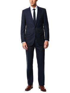 Wool and Silk Pinstripe Suit by Uman on Gilt.com