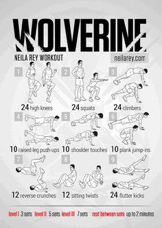 worlverine work out