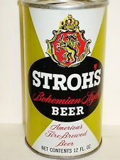 """STROH'S 'COLOR VARIATION"""" S/S Beer Can - A274"""