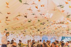 100 paper cranes wedding   photograph by nabeel camera