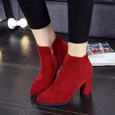 Buy 'Chryse – Chunky Heel Ankle Boots' with Free International Shipping at YesStyle.com. Browse and shop for thousands of Asian fashion items from China and more!