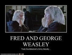 fred and george weasley funny quotes | FRED AND GEORGE WEASLEY - Cheezburger