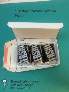 3 Hershey's Miniatures Candy Box Directions – Stamping Mom Hershey Miniatures, Hershey Nugget, Candy Boxes, Gift Boxes, Cute Box, Halloween Cards, Halloween Clay, Halloween Projects, Halloween Stuff