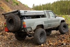 1985 Toyota Pickup Diesel McFly - Four Wheeler Toyota 4x4, Toyota Trucks, Toyota Hilux, Truck Tent Camping, Toyota Runner, Overland Truck, Crate Engines, Cummins Diesel, Van