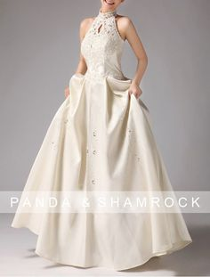 Gill wedding gown ... lace, eyelet and Vintage Inspired by pandaandshamrock, $280.00