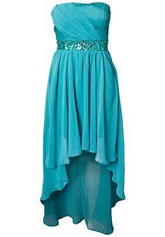 Jewel Embellished Mullet Dress