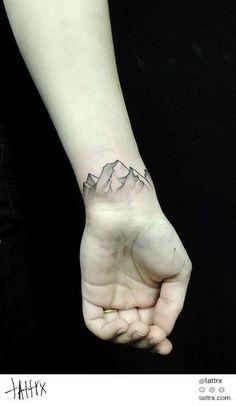 mountains tatto wrist