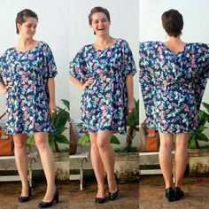 LEILA DINIZ *blog: FLORES na sexta, MUITAS FLORES no vestido com mang...
