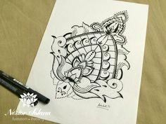 Título: Bali art  Técnica:  estilógrafos Tamaño: 22.9 x 30 cm Material: Papel blanco