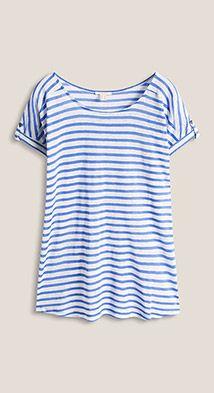 Esprit / Oversized shirt van linnenmix met strepen