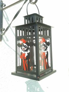 Harley Quinn Stained Glass Candle Lantern