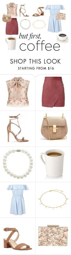 """Coffee Date"" by kawaiicool ❤ liked on Polyvore featuring Needle & Thread, Michelle Mason, Chloé, Lord & Taylor, Miss Selfridge, Nine West and Phase Eight"