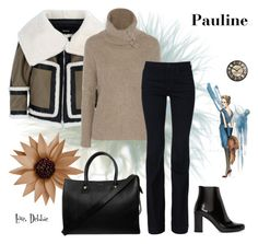 """Pauline"" by debbie-michailides ❤ liked on Polyvore featuring Dsquared2, Autumn Cashmere, STELLA McCARTNEY, Yves Saint Laurent and Paul & Joe"