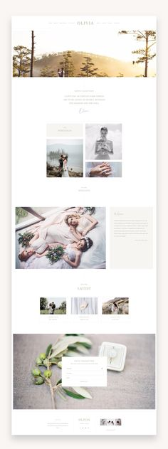 Olivia is a simple, functional and classy WordPress theme just for women who want to showcase your creative work ans services Web Layout, Layout Design, Website Design Layout, Blog Layout, Website Designs, Design Design, Simple Website Design, Beautiful Website Design, Homepage Design