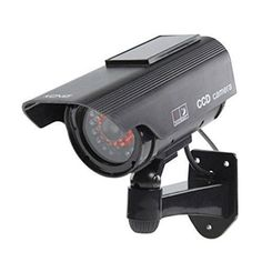 Check Out This Great Security Product for Your Home or   Business - Etopars Solar Power Black Fake Dummy Security CCTV Camera Waterproof IR LED Outdoor Indoor Surveillance