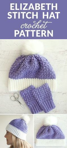 The Elizabeth Stitch Crochet Hat Pattern - this free crochet pattern is perfect for kids and adults alike and makes a perfect birthday or Christmas gift. #crochetgifts #crochet365