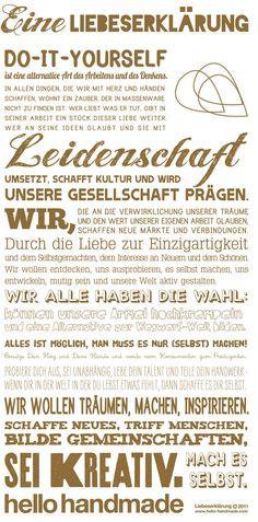 handmade manifesto (german) - so damn true!