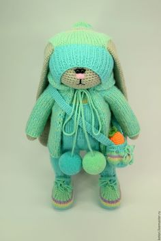 Buy Tim - combined, rabbit, knitting, knitted bunny, knitted toys, crochet, knitting