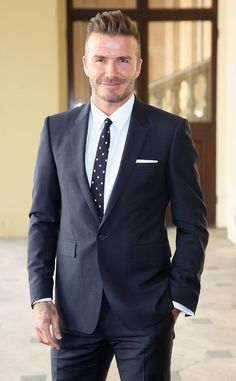 David Beckham from The Big Picture: Today's Hot Pics  The soccer stud arrives at Buckingham Palace for the Queen's Young Leaders Event.