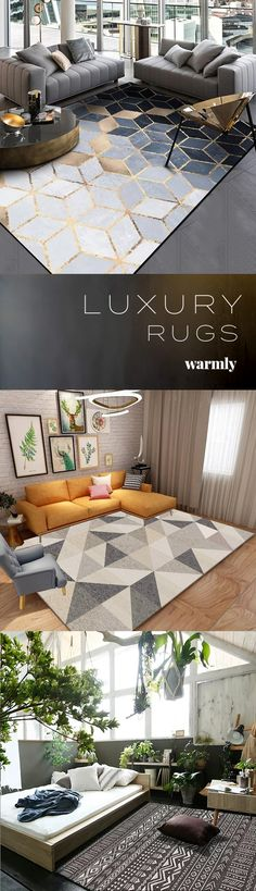 Modern Rugs at Off (or more) ★★★★★ (. Modern Rugs at Off (or more) ★★★★★ Home Living Room, Interior Design Living Room, Living Room Designs, Living Room Decor, Bedroom Decor, Bedroom Modern, Interior Modern, Living Spaces, Master Bedroom