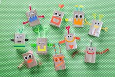 tinfoil robots, would make a cute collage for toddlers