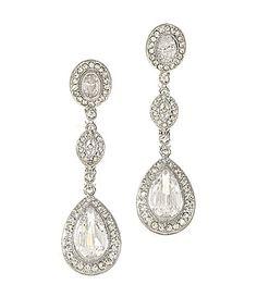 Nadri Cubic Zirconia and Crystal Drop Earrings #Dillards