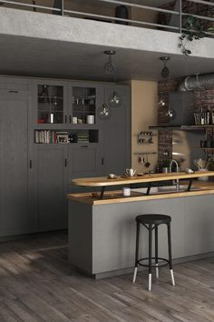 Lorsqu'on aime recevoir, la cuisine ouverte peut être une parfaite alliée ! Cloison semi-ouverte, comptoir, bar ou îlot, il y a mille manières d'agencer une cuisine conviviale. Découvrez notre sélection d'idées astucieuses pour recevoir famille et amis aussi souvent que vous en avez envie. Mille, House, Furniture, Home Decor, Bar Stand, Compact Kitchen, Warm Kitchen, U Shaped Kitchen, High Chairs