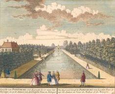 Gezicht van Papenburg over de groote Vyver naar het Toorentje. Het Zegenpralent Kenenmerlant, vertoont in 100 Heerelyke gezichten. Mattaeus Brouerius van Nidek, , Henrik de LETH.
