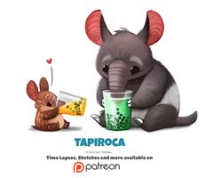Daily 1352. Tapiroca by Cryptid-Creations