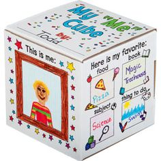 """Crafts for Kids: Ready-To-Decorate™ My """"ME"""" Cube Set for the First Day of School"""