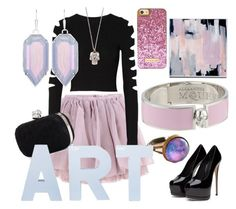 """""""Princess Goes Punk"""" by hannareaddesigns on Polyvore featuring Olympia Le-Tan, Cushnie Et Ochs, Alexander McQueen and Kendra Scott"""