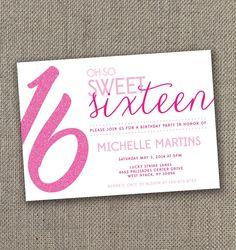 free sweet sixteen invitation templates Printable Sweet 16